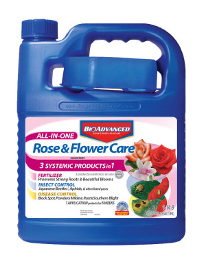 BioAdvanced All-In-One Rose & Flower Care Concentrate 9-14-9 4ea/64 fl oz