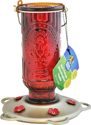 Classic Brands More Birds® Red Vintage Hummingbird Feeder Vintage Red 4ea/20 oz