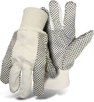 Boss Poly/Cotton Blend Dotted With Knit Wrist Glove Multicolor 12ea/Large