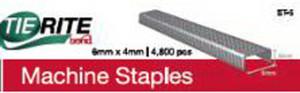 Bond TieRite Machine Staple Silver 100ea/6Mmx4 mm