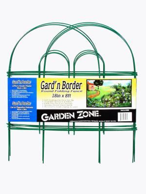Garden Zone Gard'n Border Round Folding Fence Green 20ea/18Inx8 ft