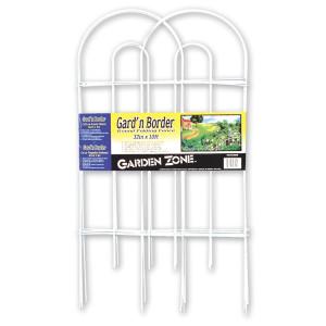 Garden Zone Gard'n Border Round Folding Fence White 10ea/32Inx10 ft