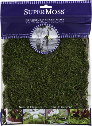 Supermoss Sheet Moss Preserved Fresh Green 12ea/2 oz