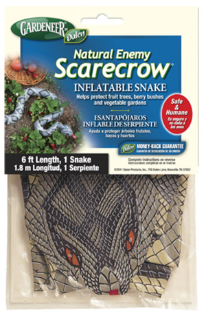 Dalen Gardeneer Natural Enemy Scarecrow Inflatable Snake 12ea/6 ft
