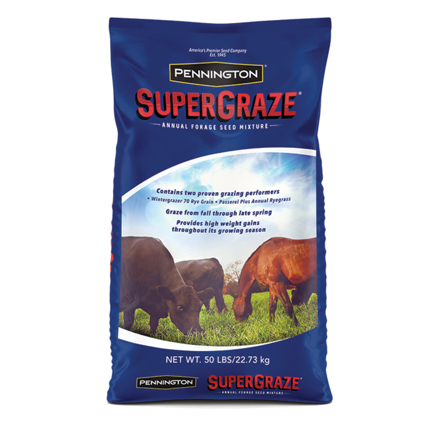 Pennington Supergraze Annual Forage Seed Mixture Winter 1ea/50 lb