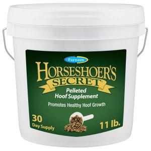Farnam Horseshoer's Secret Pelleted Hoof Supplement for Horses, Promotes healthy hoof growth, 1ea/11 lb, 30 Day Supply