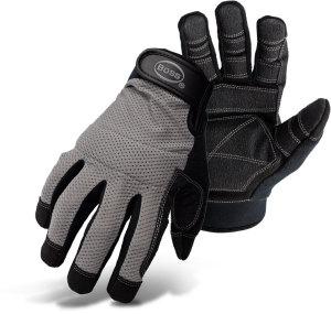 Boss Breathable Mesh Back Utility Glove Black, Grey 6ea/Large