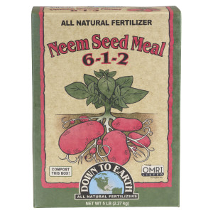 Down To Earth Neem Seed Meal Natural Fertilizer 6-1-2 OMRI 6ea/5 lb