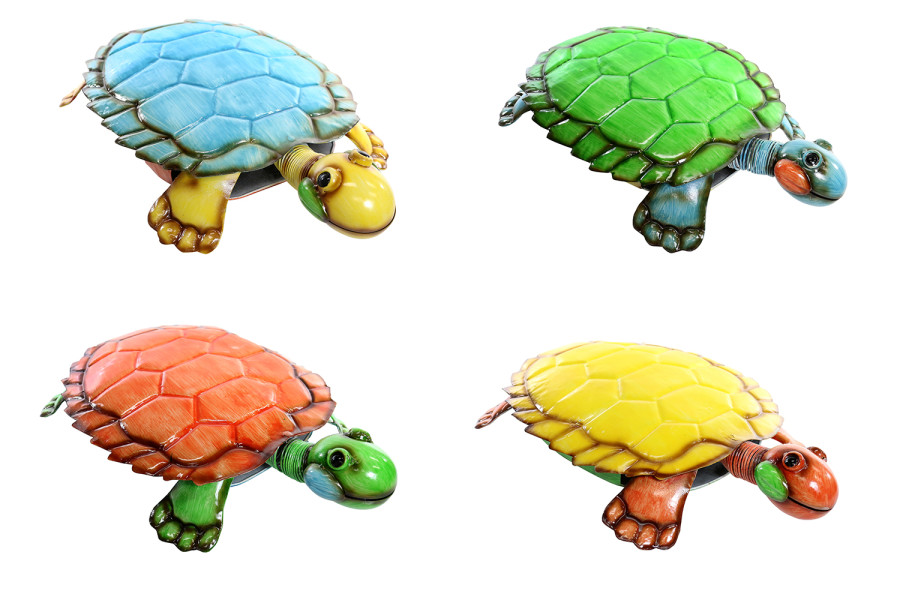 Alpine Small Metal Turtle Decor Assorted 4ea