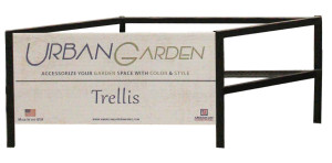 American GardenWorks Works Empty Trellis Display Black 1ea