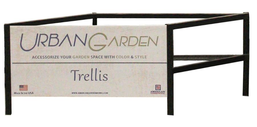 American GardenWorks Works Empty Trellis Display Black 1ea