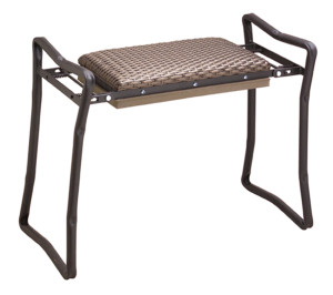 Flexrake Classic Wicker Kneeler/Bench Seat Black, Brown 4ea/Large