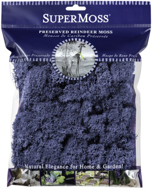 Supermoss Reindeer Moss Preserved Moss Royal Blue 10ea/4 oz