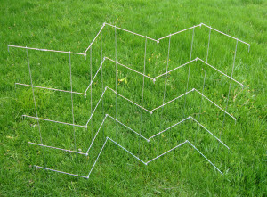 Midwest Wire Works Collapsible 5 Panel Pea Fence 10-Leg Galvanized 5ea/70In 40 in