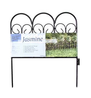 Garden Zone Jasmine Classic Steel Border Black 16ea/18Inx16 in