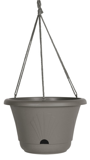 Bloem Lucca Hanging Basket Planter Charcoal 10ea/13 in