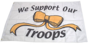 Flag Zone We Support Our Troops Nylon Flag w/Heading and Grommets 12ea/3Ftx5 ft