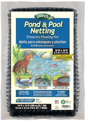 Dalen Gardeneer Pond and Pool Netting Black 12ea/14Ftx14 ft