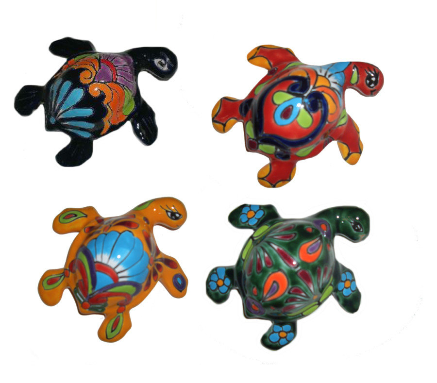 Talavera Turtle Hanger Sets Blue Green Red Yellow 6ea/5 in