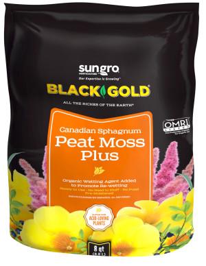 Black Gold Peat Moss Plus Canadian Sphagnum 8ea/8 qt