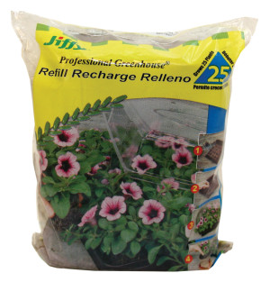 Jiffy Peat Pellets Refills Recharge Relleno Grows 25 Plants Poly Bag Brown 29ea