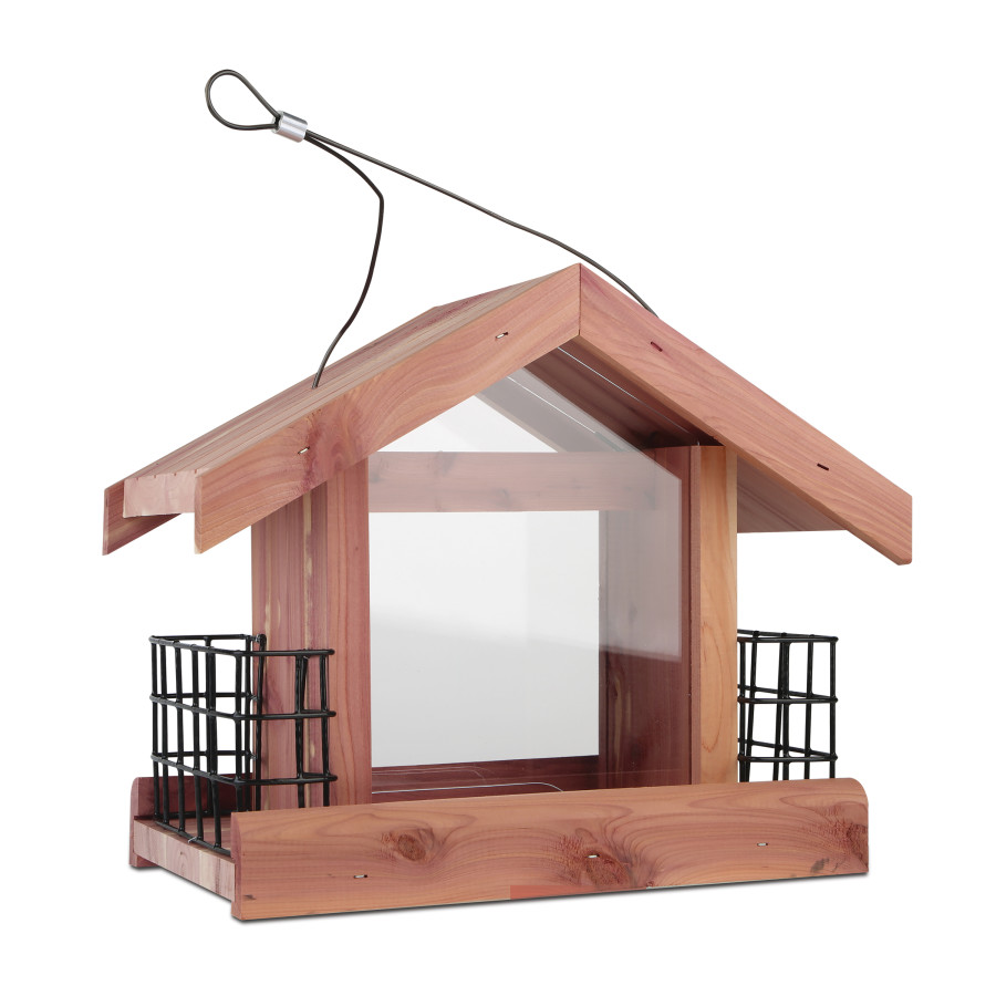 Pennington Cedar Chalet Bird Feeder Brown 2ea/12 X 6.75 X 10 in