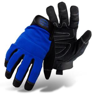 Boss Breathable Mesh Back Utility Glove Blue 6ea/Large