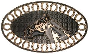 Robert Allen Horse Shoe Door Mat Brown 5ea/18 In X 30 in