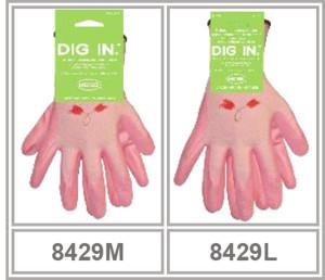 Boss 96 Pair Ladies Nylon Knit Nitrile Palm Glove Display 1ea