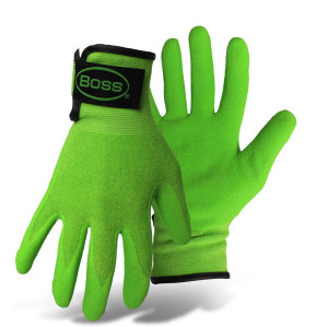Boss Guardian Angel® Sandy Nitrile Palm Glove Green, Fuchsia 12ea/X-Small