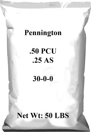Pennington .50 PCU .25 AS 30-0-0 1ea/50 lb