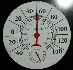E-Z Read Dial Thermometer Hygrometer White 5ea/8 in