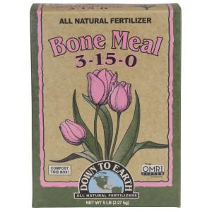 Down To Earth Bone Meal Natural Fertilizer 3-15-0 6ea/5 lb