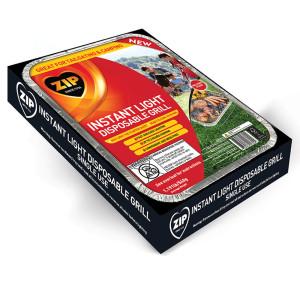 Zip Instant Light Disposable Grill Black 6ea/1.19 lb