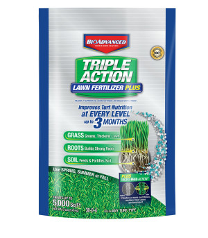 BioAdvanced Triple Action Lawn Fertilizer with Microfeed 1ea/5M