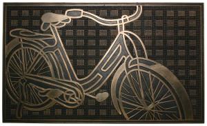 Robert Allen Antique Bike Door Mat Black, Gold 5ea/18 In X 30 in
