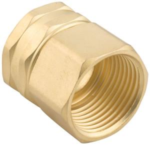 Gilmour Heavy Duty Double Female Swivel Connector 3/4in NPTx3/4in NH Brass Gold 12ea/1.1 In X 1.6 In X 4.7 in