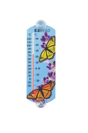 E-Z Read Thermometer Butterfly Multi-Color 10ea/10 in