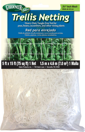 Dalen Gardeneer Trellis Netting Mesh White 12ea/5Ftx15Ft 3.5 in