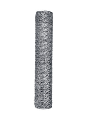Garden Zone 20-gauge Galvanized Hex Netting Silver 6ea/24Inx50Ftx1 in