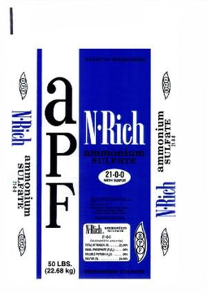 American Plant Food Ammonium Sulfate Nitrogen Rich 2ea/21-0-0 50 lb