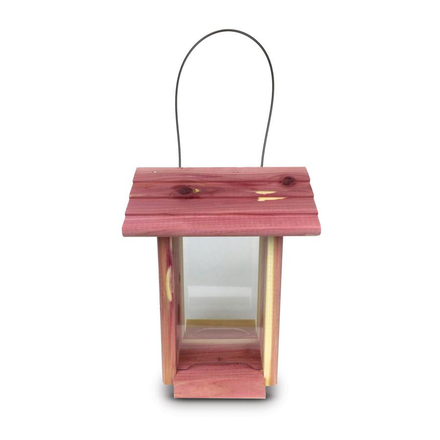 Pennington Cedar Dinette Bird Feeder Red, Brown 2ea/7L X 4.75W X9H