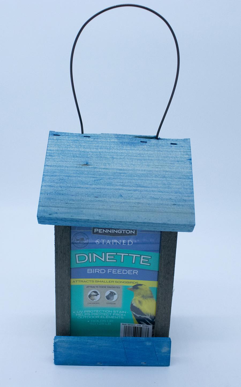 Pennington Stained Dinette Bird Feeder Blue & Gray 4ea