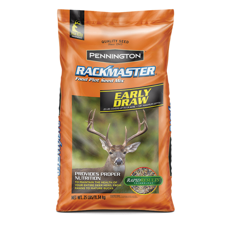 Pennington Rackmaster Early Draw Food Plot Seed Mix 50ea/25 lb