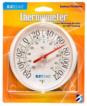 E-Z Read Dial Thermometer with Swivel Mounting Bracket White 6ea/5.5 in