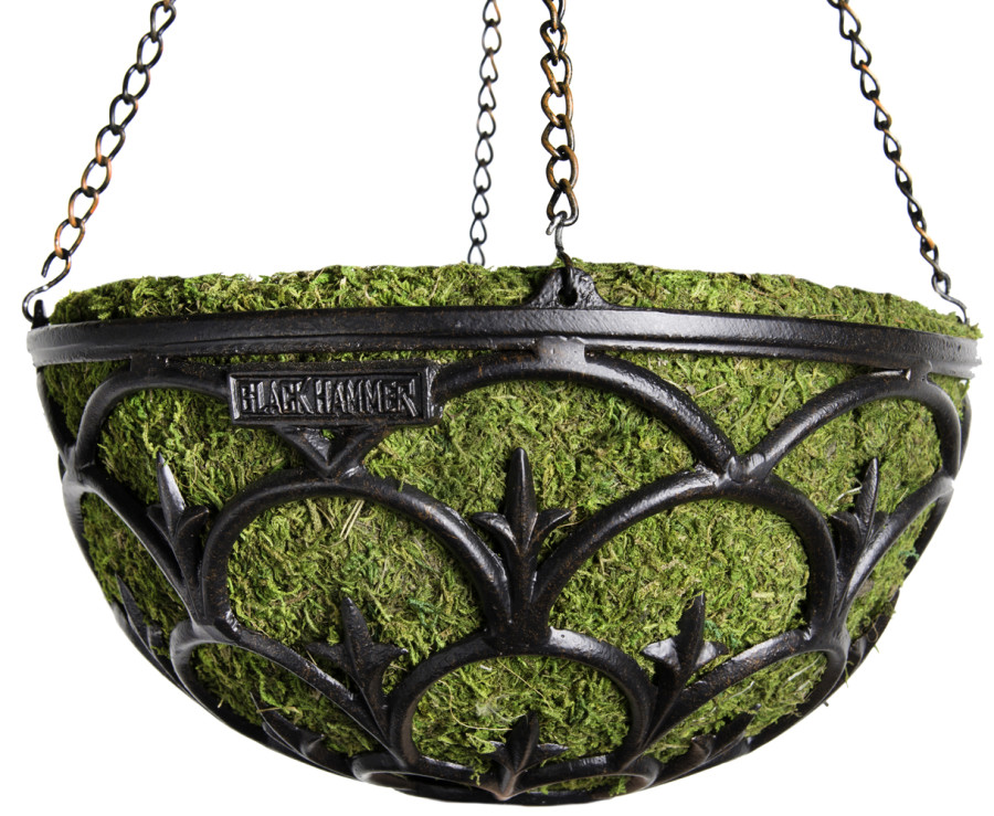 Supermoss Black Hammer Hanging Basket