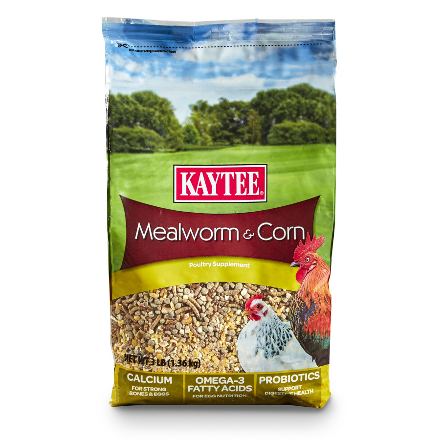 Kaytee Mealworm & Corn Poultry Supplement 6ea/3 lb