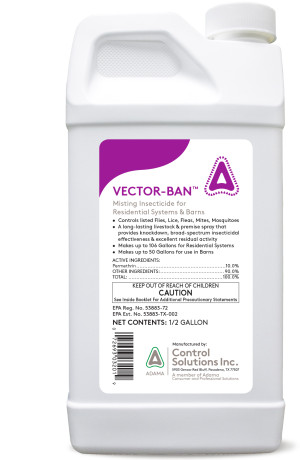 Control Solutions Vector-Ban Plus Insecticide Concentrate 6ea/1/2 gal