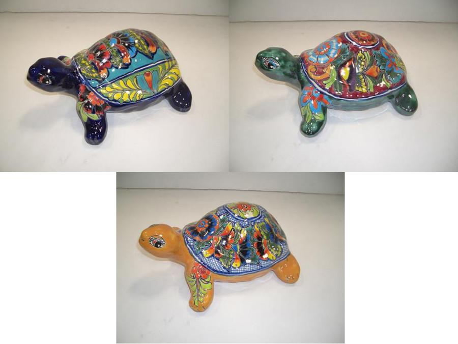 Talavera Turtle Statue Assortment Multi-Color 3ea/Medium