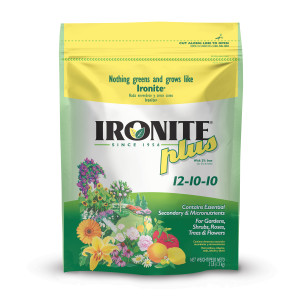 Ironite Plus Shrubs, Trees Plant Food Bag Granular 12-10-10 12ea/3 lb
